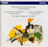 RAUTAVAARA - The Jean Sibeli - Quatuor à cordes n°2