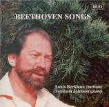 BEETHOVEN - Berkman - Six Lieder pour voix et piano op.48 'Gellert Liede