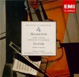 GOEHR - Parikian - Concerto pour violon et orchestre op.13