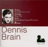 BRITTEN - Brain - Sérénade pour ténor, cor et cordes op.31 import Japon