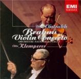 BRAHMS - Klemperer - Concerto pour violon et orchestre en ré majeur op.7 remastered by Yoshio Okazaki, import Japon