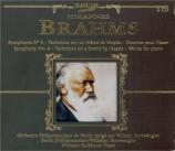 BRAHMS - Backhaus - Symphonie n°4 op.98