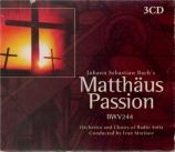 BACH - Marinov - Passion selon St Matthieu BWV 244