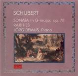 SCHUBERT - Demus - Sonate pour piano op.78 D.894 'Fantasie'