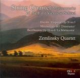 String Quartets Masterworks of the First Viennese School