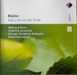 MAHLER - Barenboim - Das Lied von der Erde (Le chant de la terre), pour