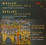MAHLER - Curtis - Symphonie n°4 : arrangement pour orchestre de chambre