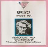 BERLIOZ - Scherchen - Harold en Italie op.16