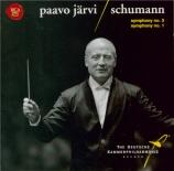 SCHUMANN - Järvi - Symphonie n°3 pour orchestre en mi bémol majeur op.97