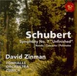 SCHUBERT - Zinman - Symphonie n°8 en si mineur D.759 'Inachevée'