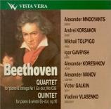 BEETHOVEN - Mndoyants - Quatuor avec piano, en mi bémol majeur WoO 36 n°