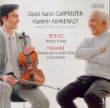 BERLIOZ - Ashkenazy - Harold en Italie op.16 version de Harold en Italie écrite pour Paganini