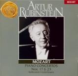 MOZART - Rubinstein - Concerto pour piano et orchestre n°17 en sol majeu