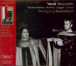 VERDI - Sawallisch - Macbeth, opéra en quatre actes (version italienne) live salzburg 7 - 8 - 1964