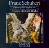 SCHUBERT - Brandis Quartet - Quatuor à cordes n°10 en mi bémol majeur op