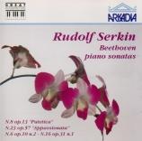 BEETHOVEN - Serkin - Sonate pour piano n°8 op.13 'Pathétique' live London 1971
