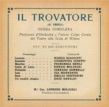 VERDI - Molajoli - Trovatore (Il) (Le Trouvère)