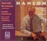HANSON - Schwarz - Symphonie n°2 op.30
