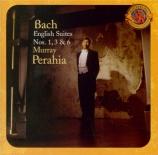 BACH - Perahia - Suite anglaise n°1, pour clavier en la majeur BWV.806