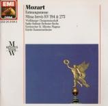 MOZART - Meyer-Kundt - Missa 'Kronungsmesse' K.317
