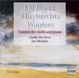 DE BOECK - De Neve - Sonate pour piano et violon