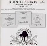 Rudolf Serkin on Welte-Mignon