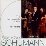 SCHUMANN - Trio Italiano - Trio avec piano n°1 en ré mineur op.63