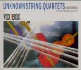 Quatuors à cordes inconnus Vol.2