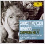 CHOSTAKOVITCH - Salonen - Symphonie n°4 op.43