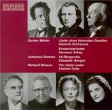 MAHLER - Schlusnus - Lieder eines fahrenden Gesellen (Chants d'un compag