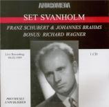 SCHUBERT - Svanholm - An die Leier (Bruchmann), lied pour voix et piano