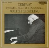 DEBUSSY - Gieseking - Danseuses de Delphes, pour piano en si bémol majeu