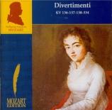 MOZART - Heyerick - Divertimento pour cordes n°1 en ré majeur K.136 (K6