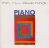 FELDMAN - Schroeder - Piano