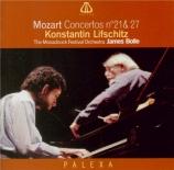MOZART - Lifschitz - Concerto pour piano et orchestre n°21 en do majeur