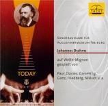Brahms auf Welte-Mignon gespielt Vol.1