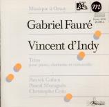 INDY - Cohen - Trio pour clarinette (ou violon), violoncelle et piano en