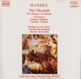 HAENDEL - Krcek - Messie (Le) : extraits