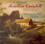 SCHUBERT - Sawallisch - Quintette avec piano op.posth.114 D.667 'Die For Import Japon