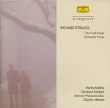 STRAUSS - Abbado - Vier letzte Lieder (Quatre derniers Lieder), pour sop