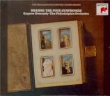 BRAHMS - Ormandy - Symphonie n°1 pour orchestre en do mineur op.68 Import Japon