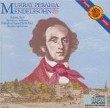MENDELSSOHN-BARTHOLDY - Perahia - Sonate pour piano en mi majeur op.6