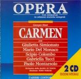 BIZET - Verchi - Carmen, opéra comique WD.31