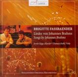 BRAHMS - Fassbaender - Liebestreu (Reinick), mélodie pour voix solo et p