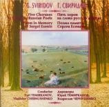 SVIRIDOV - Tchernushenko - Cinq chœurs sur des textes de poètes russes