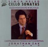 CILEA - Heled - Sonate pour violoncelle et piano op.38