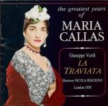 VERDI - Rescigno - La traviata, opéra en trois actes Live London 20 - 06 - 1958