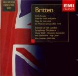 BRITTEN - Barantschik - Suite pour violon et piano op.6