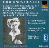 BEETHOVEN - De Vito - Concerto pour violon op.61