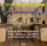 SPERGER - Sasina - Trio pour flûte, alto et contrebasse en ré majeur